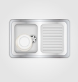 kitchen sink vector image