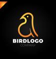 line art bird logotype design template colorful vector image vector image