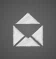 mail sketch logo doodle icon vector image vector image