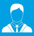 man in business suit icon white vector image vector image