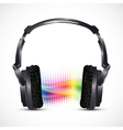 musical headphones vector image vector image