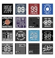 New york typography fashion set t-shirt vector image vector image
