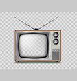 old tv set vintage electronic device with empty vector image
