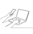 online security concept one continuous line vector image