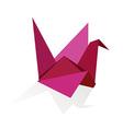 Origami swan vector image