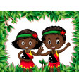 papua new guinea children in nature template vector image