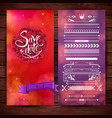 red and purple save date graphics vector image vector image