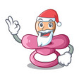 santa baby silicone pacifier isolated on mascot vector image vector image