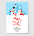 santa claus card holiday vector image vector image