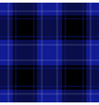 seamless blue black tartan with white stripes vector image vector image