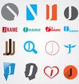 Set of alphabet symbols of letter J vector image vector image