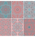Set of seamless patterns in oriental style vector image