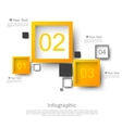 Square design infographic vector image vector image
