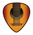 stylish color plectrum for guitar vector image vector image