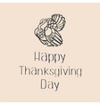 turkey thanksgiving day concept background simple vector image vector image