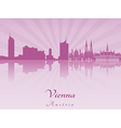 Vienna skyline in purple radiant orchid vector image vector image