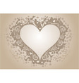 Vintage heart shaped frame with copy space vector image vector image