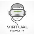 virtual reality headset man vector image