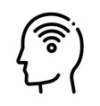 wifi symbol in man silhouette mind icon vector image
