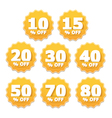 Yellow Stickers vector image vector image