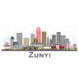 zunyi china city skyline with gray buildings vector image vector image