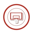 Basketball board sport vector image
