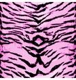 Pink tiger seamless pattern Animal design vector image