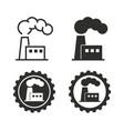 factory icon set vector image