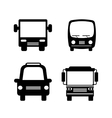 bus service set isolated icons vector image