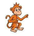 in cartoon style monkey vector image