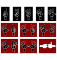 palm with fingers vector image