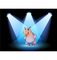 A hippopotamus standing at the stage with vector image vector image