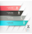 Abstract origami options banner vector | Price: 1 Credit (USD $1)