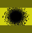 abstract radial halftone background vector image vector image