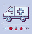 ambulance and medical design vector image vector image