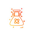 artificial beaker intelligence icon design vector image