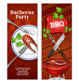 Barbecue Vertical Banners vector image