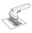 Barcode scanner icon gray monochrome style