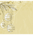 beige christmas background with christmas balls vector image vector image