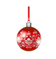 big red ball vector image vector image