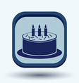 birthday cake icon vector image vector image