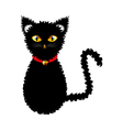 Black Cat Yellow Golden Eyes vector image