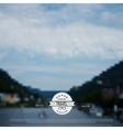 Blurred landscape background Travel concept vector image vector image