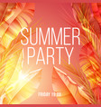 bright exotic natural summer party poster vector image vector image