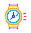 broken watch icon outline vector image vector image