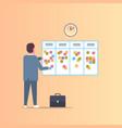 businessman scheduling his work agenda weekly vector image vector image
