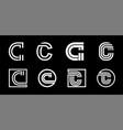 capital letter c modern set for monograms logos vector image vector image