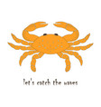 card with a crab vector image