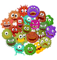 Cartoon bacteria collection set vector image vector image