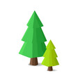 cartoon fir trees in gaming concept vector image